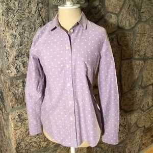 Madewell Light Purple Polka Dot ButtonDown-Size XS